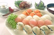 料理レッスン写真 - 春の簡単手まり寿司とザンギでお祝いしましょう!(胡麻プリン付)