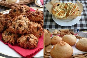 料理レッスン写真 - 紙焼きブレッド・カレンズとオートミールのクッキー・甘食