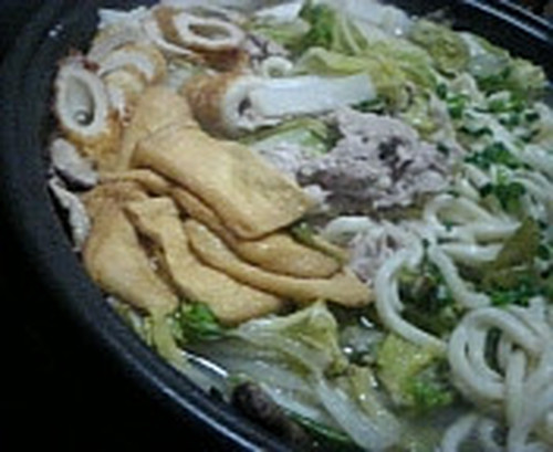 My Family's Napa Cabbage and Pork Stewed Udon Noodles