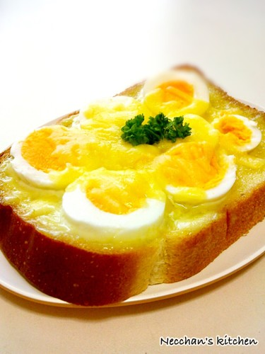 Egg and Cheese with Wasabi Mayonnaise on Toast