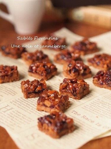 Crispy Walnut and Cranberry Florentines