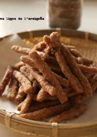 Cinnamon Flavored New Karinto (Sweet Deep-Fried Brown Sugar Snacks)