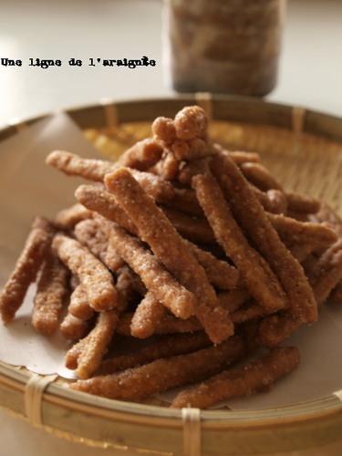 Cinnamon Flavored New Karinto (Sweet Deep-Fried Brown Sugar Snacks)
