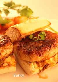 Tofu & Rice Crackers Vegetarian Hamburger