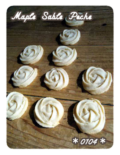 Maple Sablé Poche - Maple Flavored Vegetarian Cookies