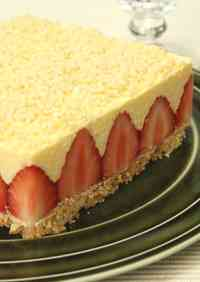 "An Easy ""le Fraisier"" Style Cake with Lots of Strawberries"