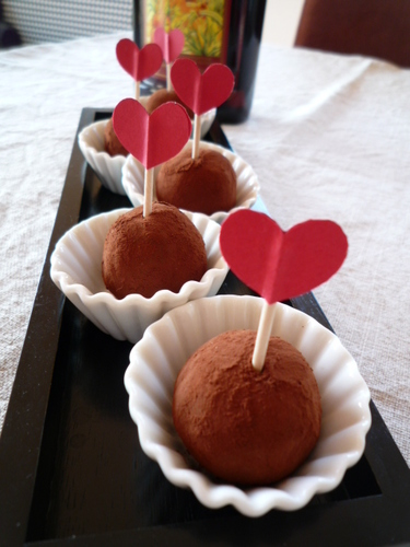 Lovely Chocolate Truffles for Valentine's Day