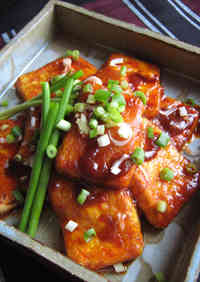 Easy and Inexpensive but Yummy Panfried Tofu with Gochujang