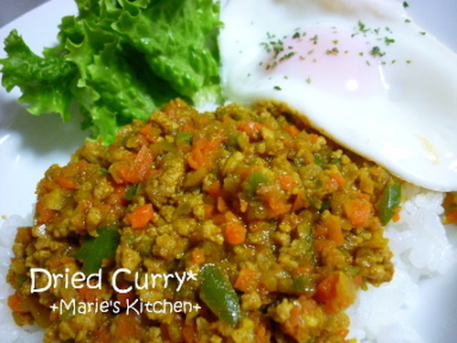 Dry Curry with Plenty of Vegetables