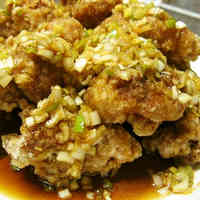 Chicken Karaage + Green Onion Sauce