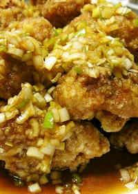 Chicken Karaage + Green Onion Sauce