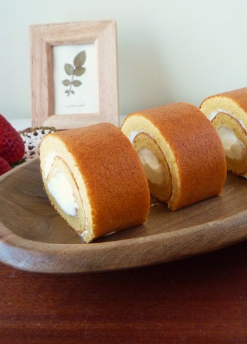 Caramel Swiss Rolls