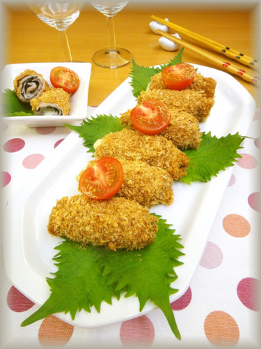 Non-Deep-Fried! Pork, Shiso Leaves, and Cheese Rolled Cutlets