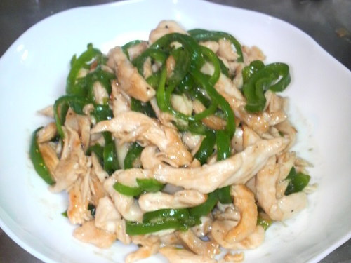 Chicken Breast and Green Pepper Stir-Fry