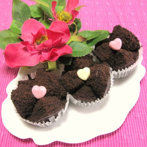 Steamed Rice Flour Gateau au Chocolat for Valentine's Day