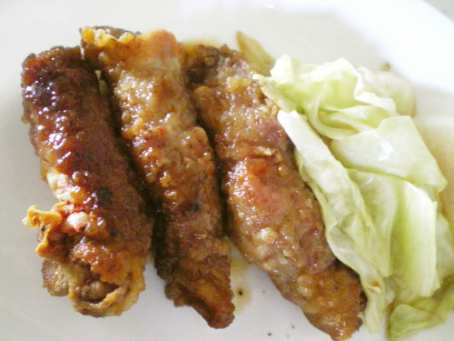 Rich and Tasty ☆ Pork and Cheese Wraps