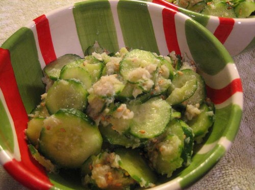 Crab and Cucumber with Vinegar Sauce (Sunomono)