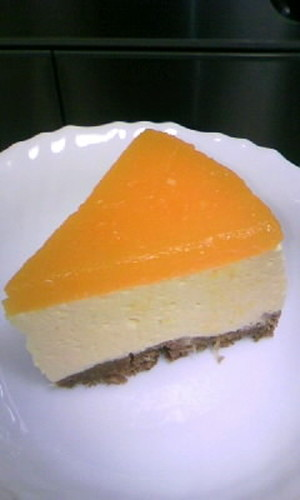 Mandarin Orange Mousse Cake with Tofu