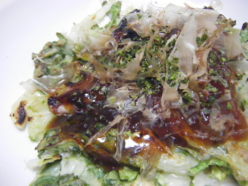 Made with Chinese Cabbage!! Okonomiyaki