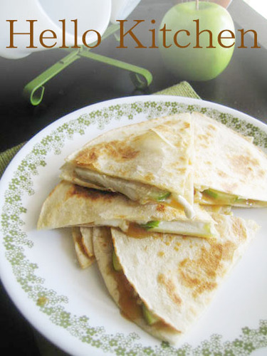 Caramel & Apple Quesadilla