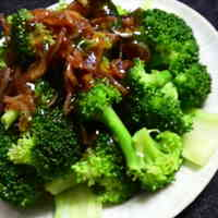 Boiled Broccoli with Sakura Shrimp and Oyster Sauce - Great in Bentos Too!
