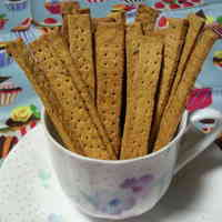 No-Oil Added Okara and Sweet Potato Crunchy Sticks
