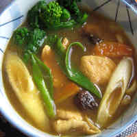 Curry Udon Noodles Thickened with Grated Potato