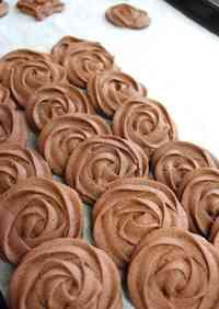 Simple Valentines Rose Cookies