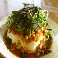 Spicy Korean-style Natto and Chilled Tofu