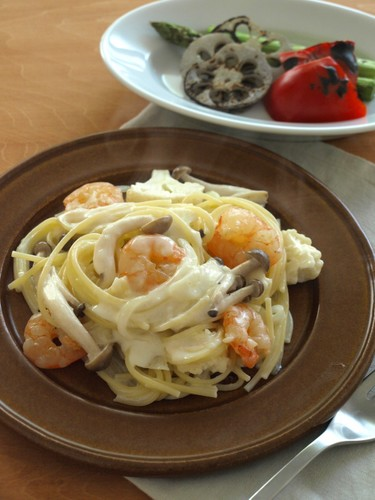 Shrimp Cream Pasta