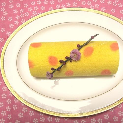 Peach Blossom Roll Cake for Doll Festival