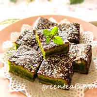 White Chocolate Green Tea Brownie