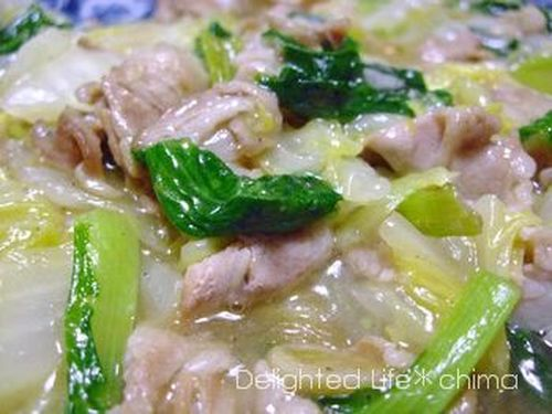 Chinese Cabbage & Bok Choy Salted Pork Belly in Sauce