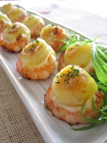 Shrimp-Wrapped Potato Cakes