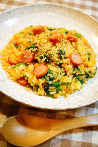 Mixed Rice with Spiced Spinach