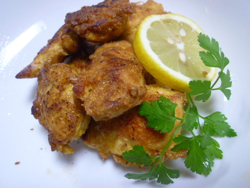 Light and Airy Chicken Tender Piccata, Curry Flavor