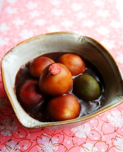 Mizu-Yokan Dango for Girl's Day or Cherry Blossom Viewing