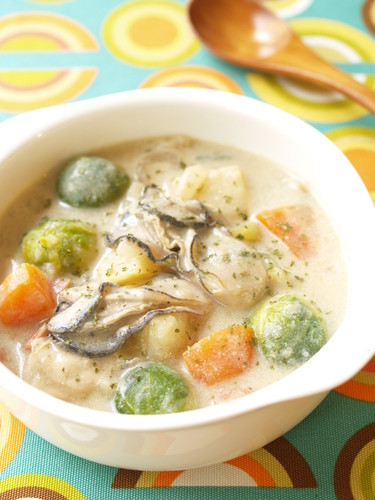 Chunky Oyster & Brussels Sprouts Chowder