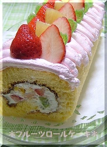 Easy Fluffy Fruit Roll Cake