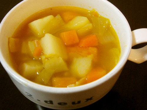 Easy Vegetable Soup Made with Stock Cubes