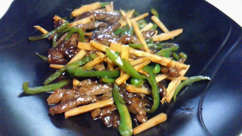 Stir Fried Beef and Peppers (Chinjao Rosu)