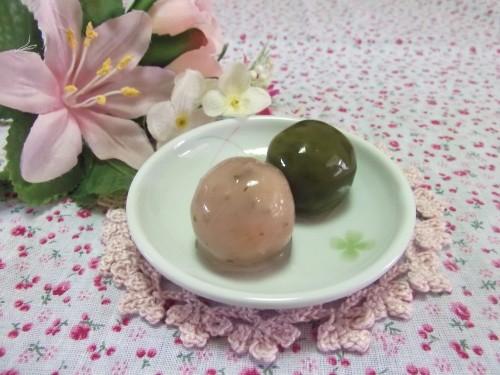 Sakura Bean Paste Dumplings