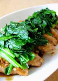 Pan-Fried Pork Cutlets Seasoned with Ginger and Garlic