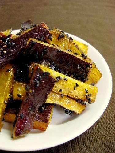Non-Fried Candied Sweet Potato Sticks