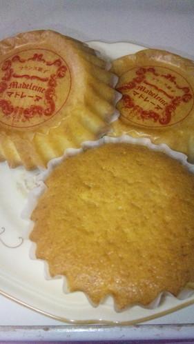 Fluffy Madeleines with Orange Peels