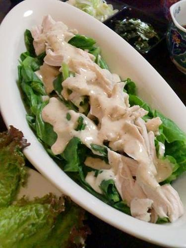Miso-Mayonnaise Salad With Cabbage and Moist Chicken Tenders