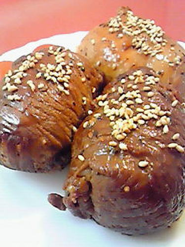 Meat-Wrapped Onigiri For Picnics and Outings!