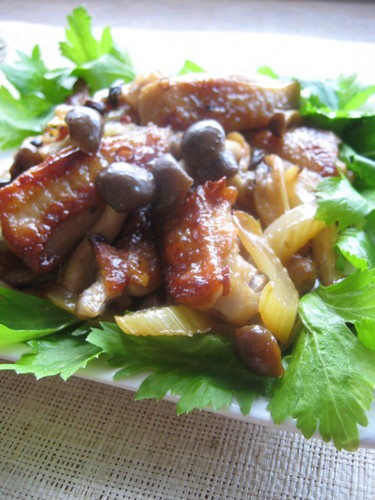 Sweet and Savory Chicken Wing and Celery Stir-Fry
