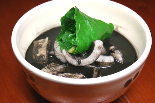 Squid Ink Soup (Okinawan Cuisine)
