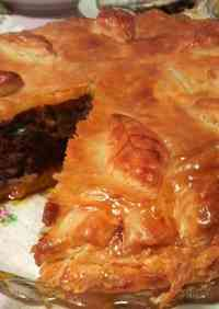 Meat Pie Made With Frozen Pastry To Serve to Guests